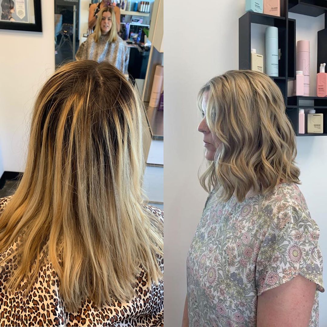 Women hair balayage and cut in Greenville SC