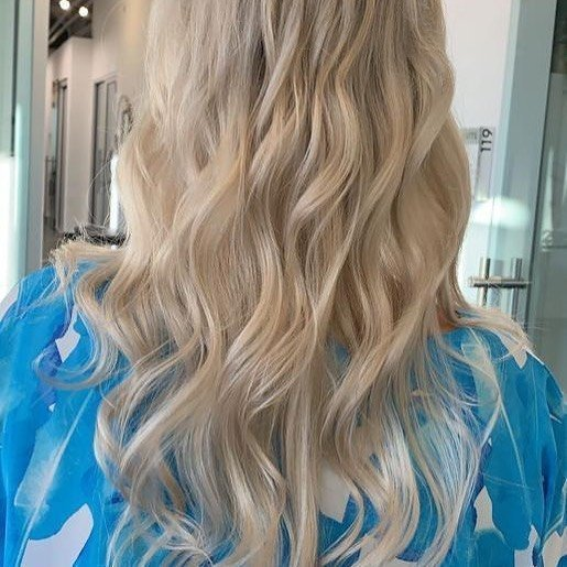 Blonde hair balayage in Greenville SC