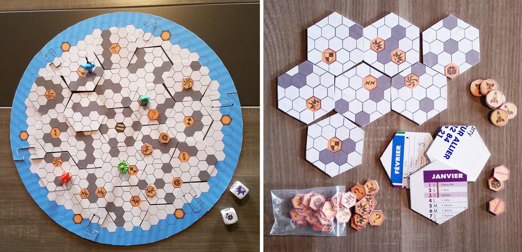 Plateau de jeu pour le prototype Warbot Arena
