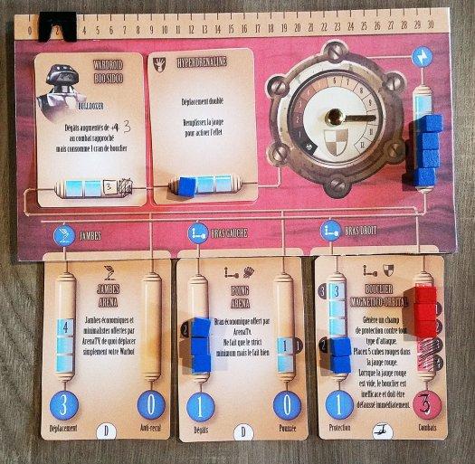 Deck de joueur pour le prototype Warbot Arena