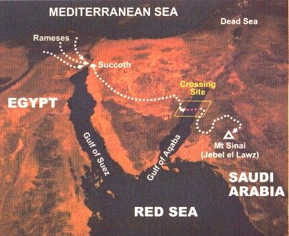 Image result for satellite picture of red sea crossing