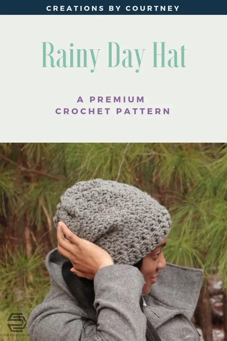 Rainy Day Hat, premium crochet pattern