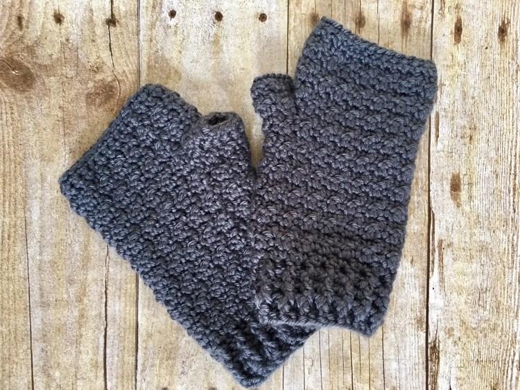 Lemon Peel Fingerless Gloves Free Crochet Pattern
