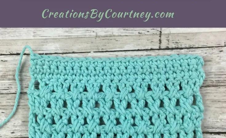 Crossed extended double crochet tutorial