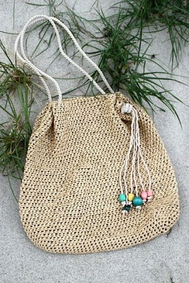 Raffia Beach Bag by Kristina Kavaliauskiene