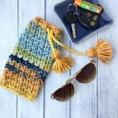 CAAB Crochet Sea Glass Sunglasses Case