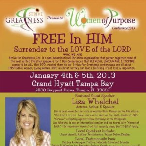 Women of Purpose Conference 2013 featured guest speaker