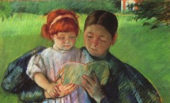 Mary Cassatt Woman reading to small child