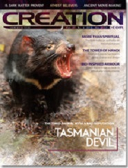 Current issue of the Creation Magazine
