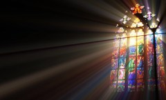 Sunlight streaming through Stained Glass: Stock Photos for Free