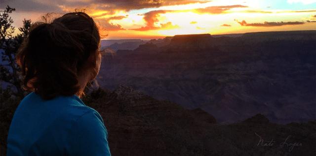 Woman watching Grand Canyon Sunset, photo: Nate Loper
