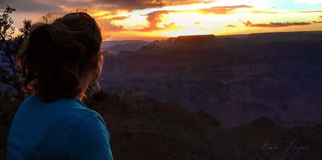 Woman watching Grand Canyon Sunset, photo: Nate Loper