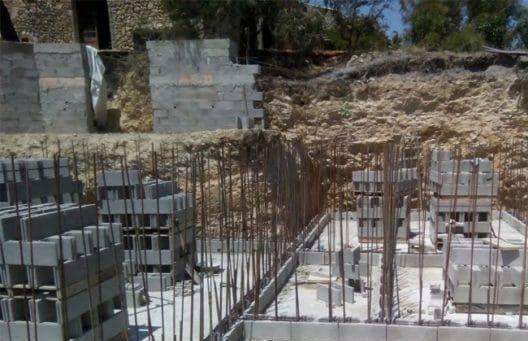 etape construction piscine