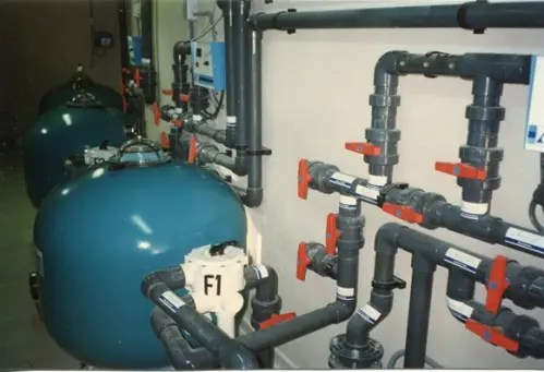 Pool technical room