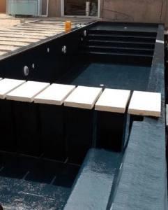 revêtement piscine polyester