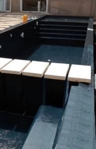 stratification piscine beton