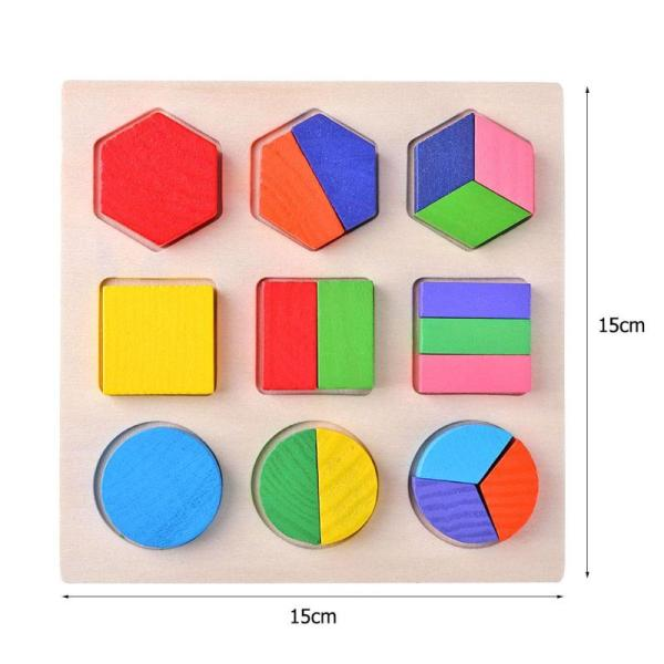 Geometric Educational Wooden Puzzle Toy 5