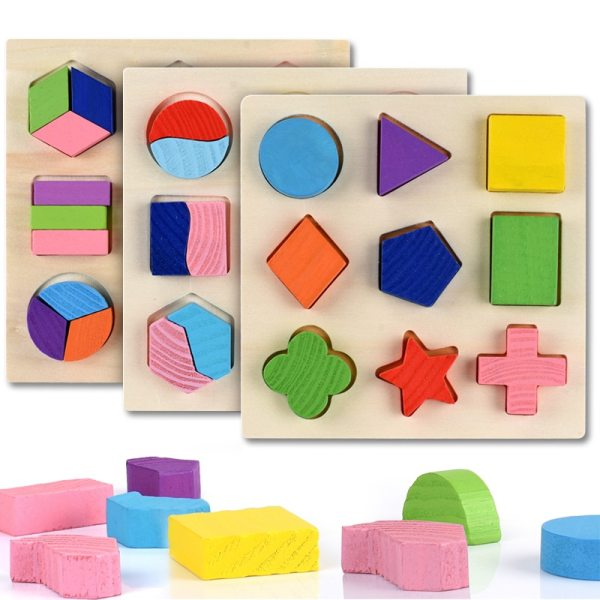 Geometric Educational Wooden Puzzle Toy 1