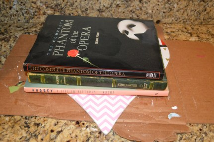 ...place some books on top to reinforce it!