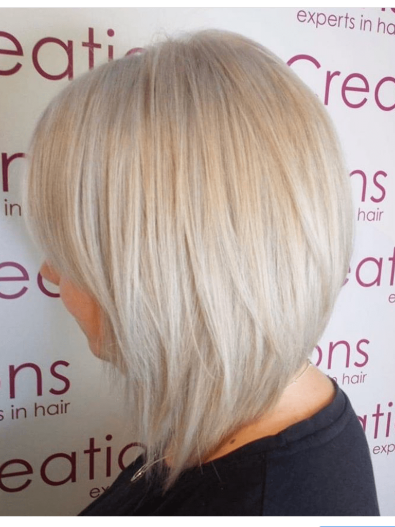 Ice Blonde with Graduated Bob