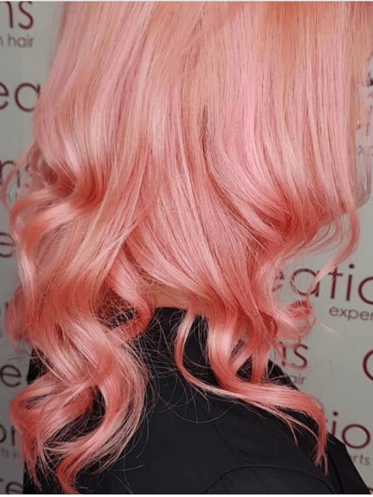Baby Pink Long Hair with curls