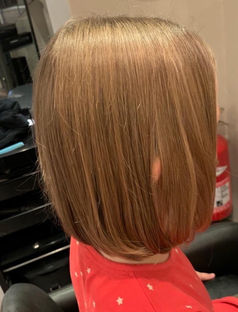 Natural brown childs bob