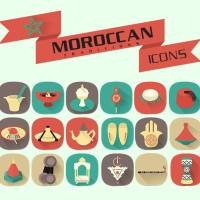 Moroccan Traditions Icons | Flat