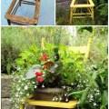 Old wooden chair garden decorating idea creative ads