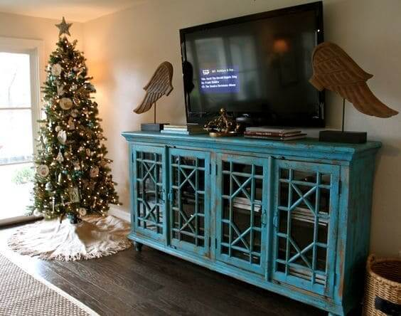 Distressed Wood TV Console Idea  Creative Ads and more