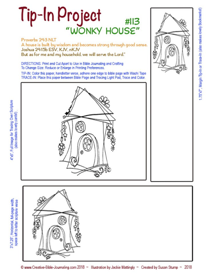 #113 Tip-In Wonky House