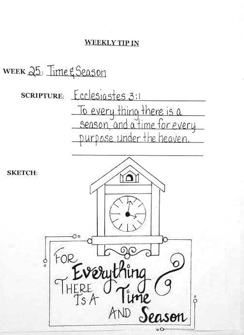 #25 Clock sketch