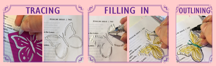 Bible Journaling Stenciling