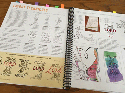 The pages on Layout Techniques demonstrates the use of varying size, color and weight of text to emphasize what you feel is most important.