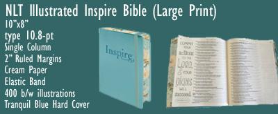 NLT Inspire Bible, LARGE Print
