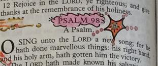 Chapter Embellish Psalms-98
