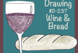 #D-237 Wine & Bread SQUARE