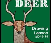 D19-19 Deer SQUARE