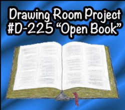 Drawing Open Book SQUARE