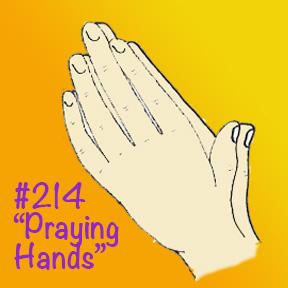 Drawing PRAYING HANDS Square