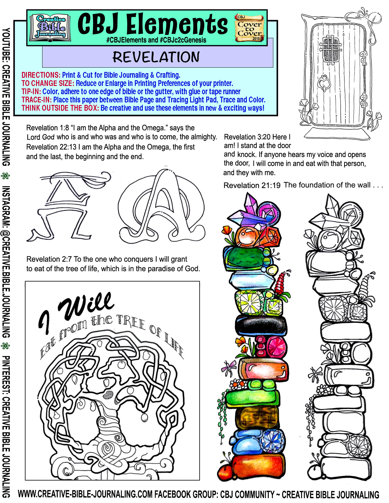 Download Printable With Elements For The Book Of Revelation