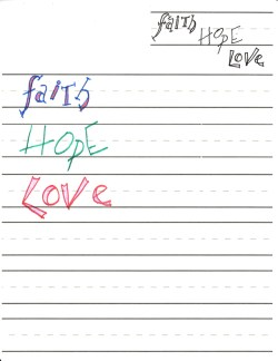 Faith Hope Love Lettering