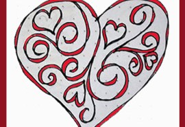 Filigree Heart SQUARE