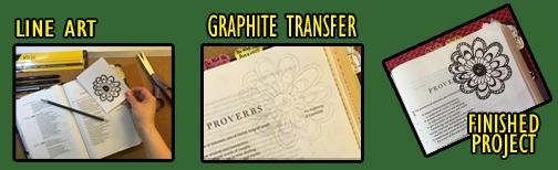 Graphite Transfer - Flower