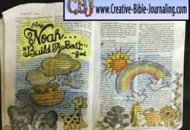 Bible Journaling Noah's Ark
