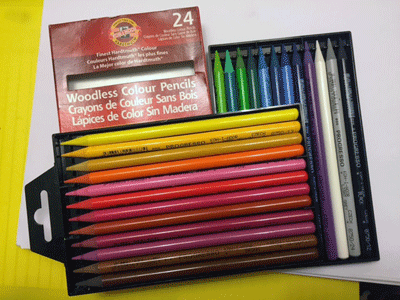 Photograph of Koh-I-Noor Woodless Colored Pencils