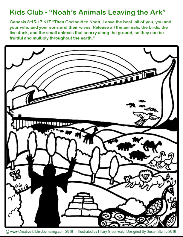 Noah Coloring Page 3 Hilary