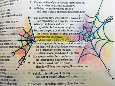 Example of In-line Art for Bible Journaling.