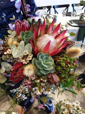 Native floral arrangement and bridal bouquets wedding flowers