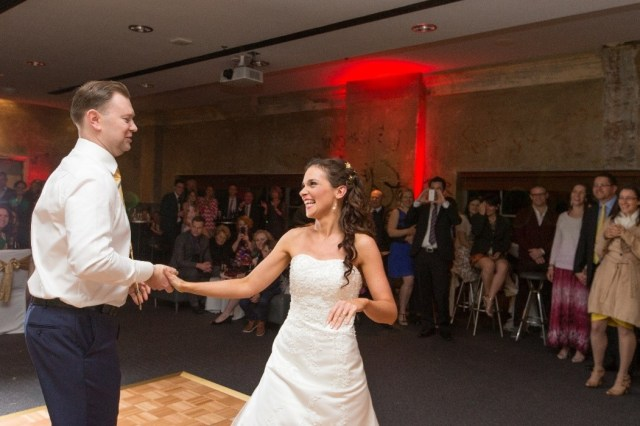 Bride and groom choreographed own wedding dance to save money