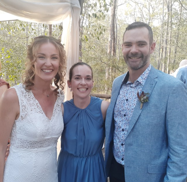 Newly married bride and groom after their personalised marriage ceremony at Walkabout Creek Weddings by Brisbane based celebrant